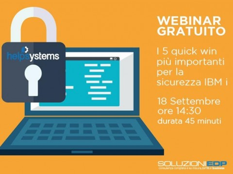 Webinar - I 5 quick win più importanti per la sicurezza IBM i